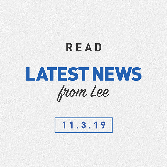 Latest News From Lee 11th March 2019