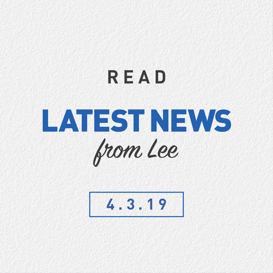 Latest News From Lee 4th March 2019