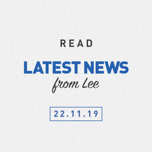 Latest News From Lee 22nd November 2019 – Motor Accident Scheme