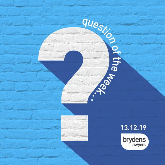 Question of the week- FRIDAY 13TH DECEMBER – What Are the New Legalities Surrounding off the Plan Sales?