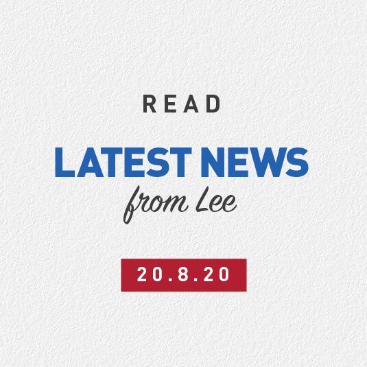 Latest News From Lee 20th August 2020