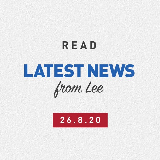 Latest News From Lee 26th August 2020