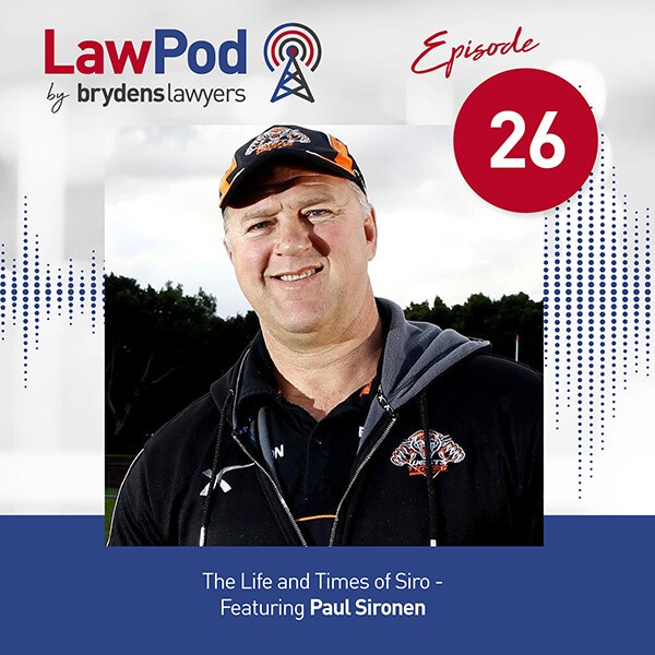 Lawpod –  The Life and Times of Siro- Featuring Paul Sironen