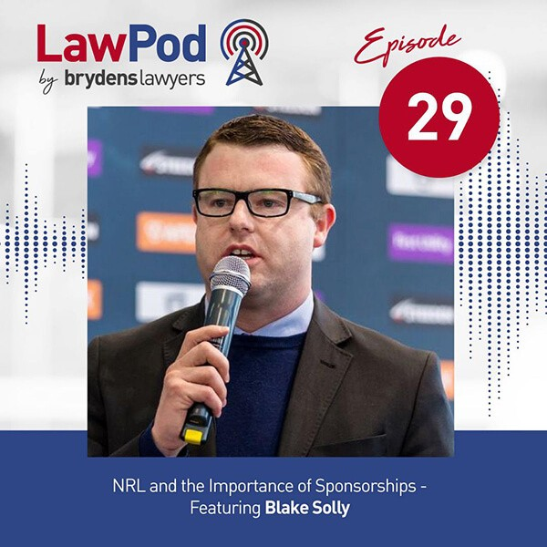 Lawpod – Lee is joined by Blake Solly, the CEO of the South Sydney Rabbitohs!