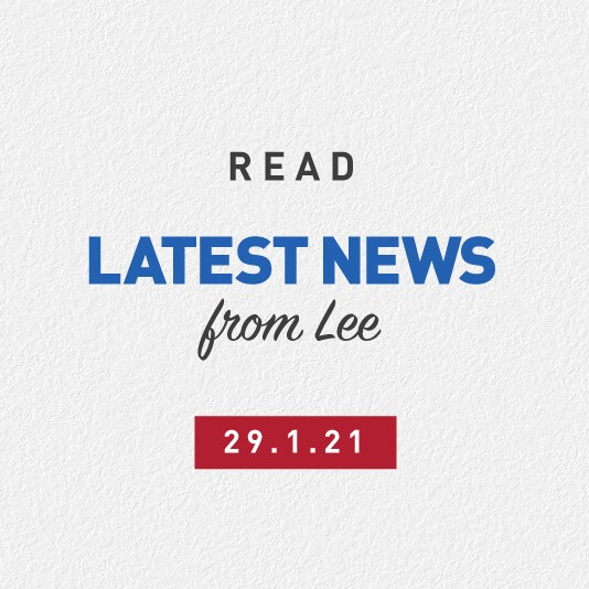 Latest News From Lee 29th January 2021